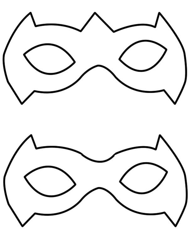 Catwoman clipart batman and robin Template super%20hero%20mask%20template Clipart Hero Mask