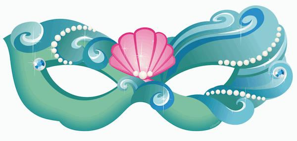 Mask clipart princess Little Printable Mermaid Masks Mask