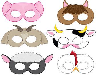 Mask clipart princess Princess Masks animals Masks mask