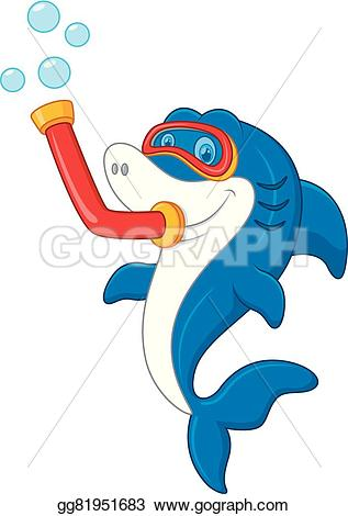 Mask clipart shark EPS Illustration Illustration dive attack