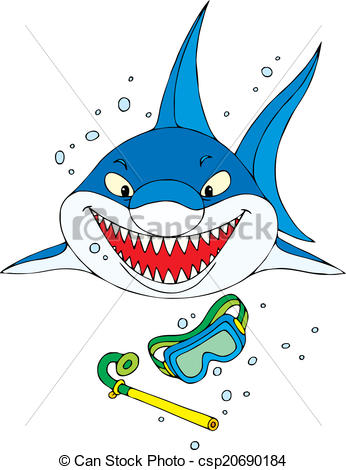 Mask clipart shark Mask csp20690184 diving shark of