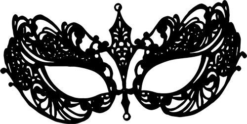 Masquerade clipart silhouette  printable gras filigree print