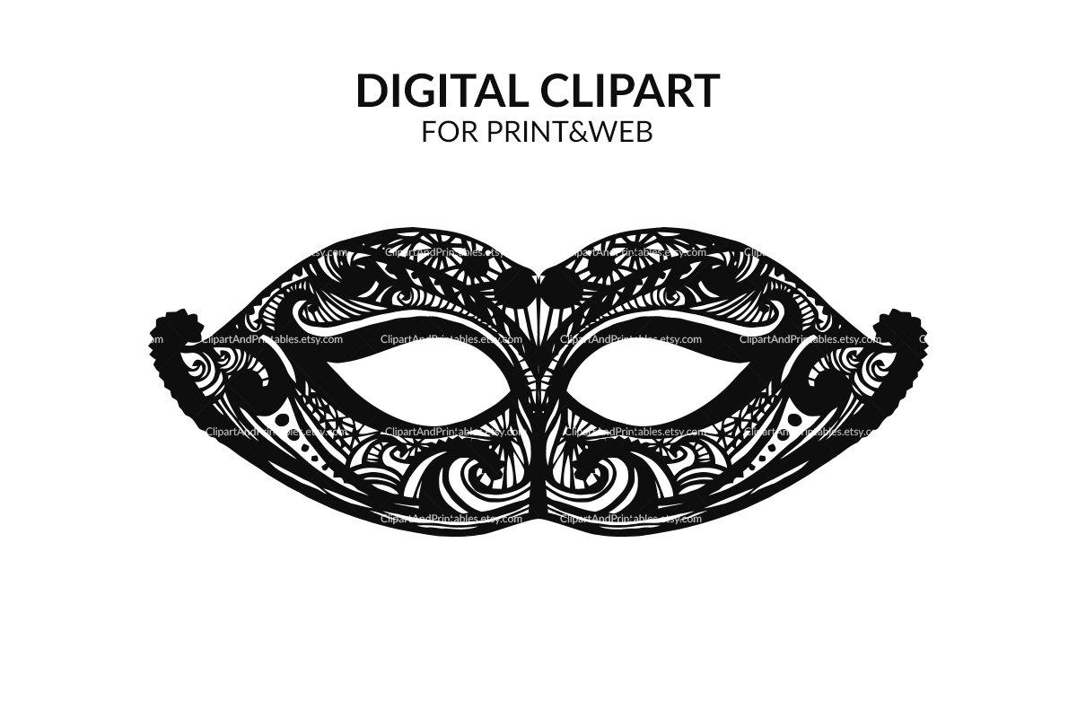 Masquerade clipart silhouette Clip mask Illustration silhouette mask