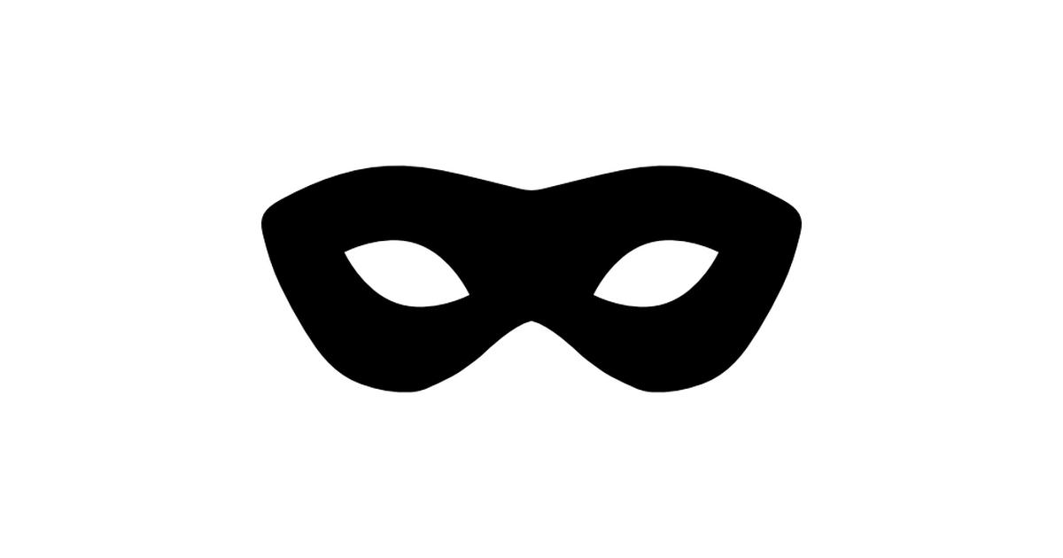 Carnival clipart eye mask Shapes Carnival  mask silhouette