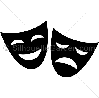 Theatre clipart silhouette JPG art image of free