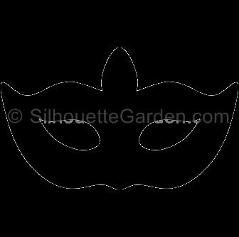 Masquerade clipart silhouette Mask Silhouette Masquerade Silhouette Mask
