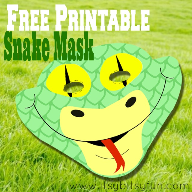 Serpent clipart face mask Itsy Fun Free Bitsy Printable