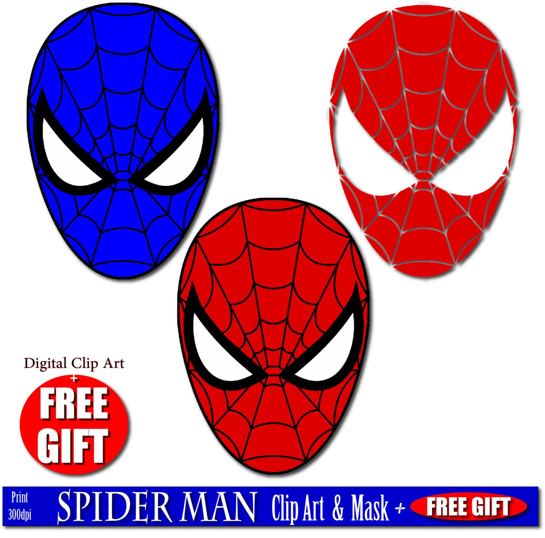 Mask clipart spiderman mask Mask mask art spiderman art