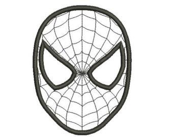 Mask clipart spiderman mask Applique Design Etsy Spiderman Design