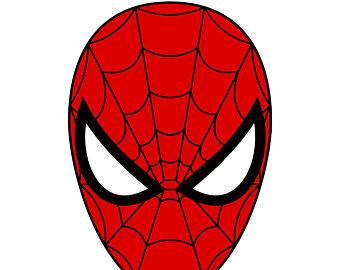 Mask clipart spiderman mask Digital Spiderman mask SVG