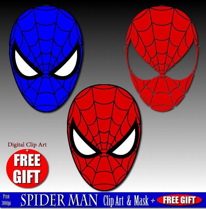 Mask clipart spiderman mask And mask Zibbet art art