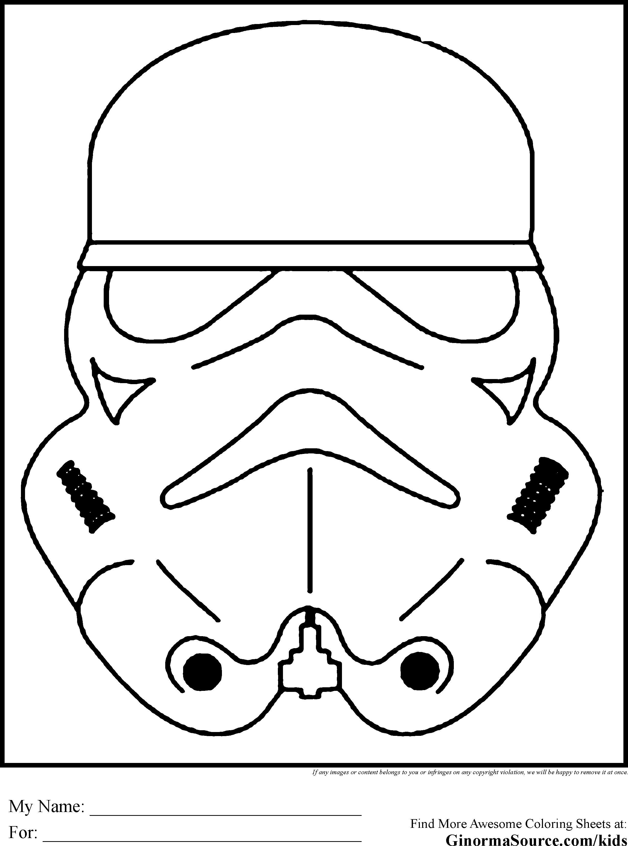 Star Wars clipart mask Wars printable (51+) stormtrooper Wars