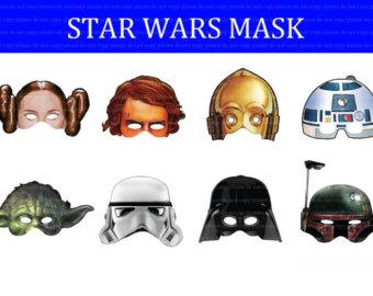 Star Wars clipart mask Disney DL Birthday printable PNG