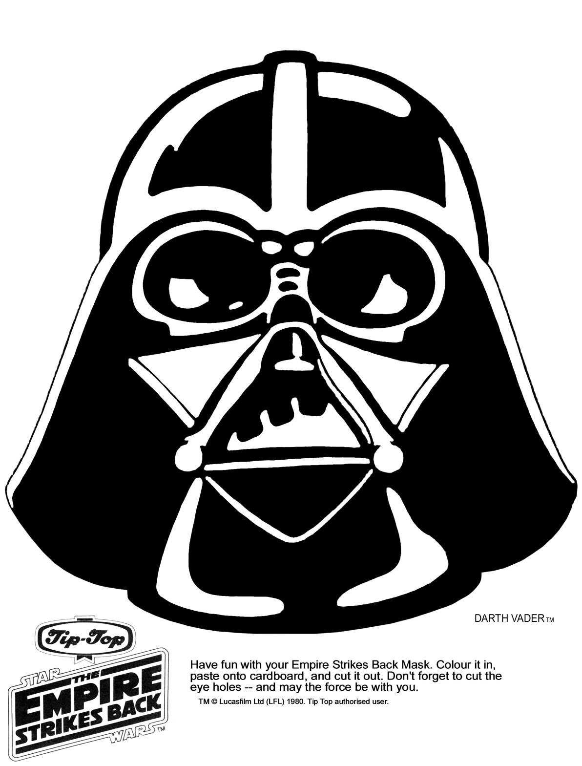 Star Wars clipart mask  resolution printable Click in