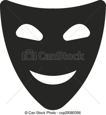 Mask clipart symbol Vectors · The and smiling