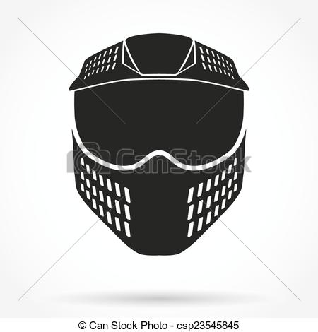 Mask clipart symbol EPS symbol of Original paintball