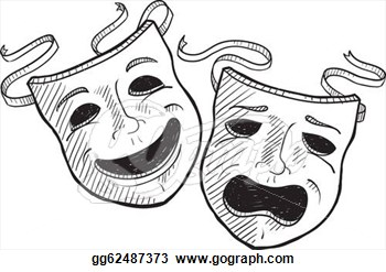 Mask clipart symbol Clipart Art Theater Drama Masks