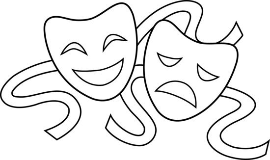 Theatre clipart theater play Clip Clip Line Art Free