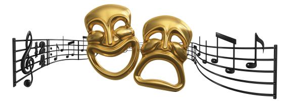 Sheet Music clipart musical theater #1