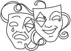 Drawn masks drawing Comedy Tragedy Comedy UrbanThreads design