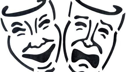 Drawn masks drama Clipart drama Comedy free Free