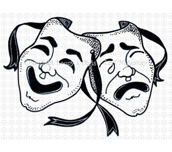 Mask clipart thespian Music Tragedy best tragedy comedy
