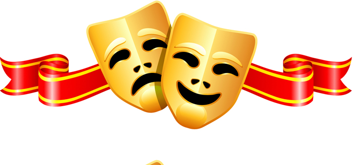 Mask clipart thespian F  H Society —