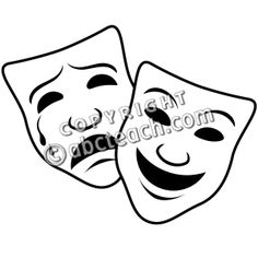Theatre clipart mask drawing And 1 Clip Drama