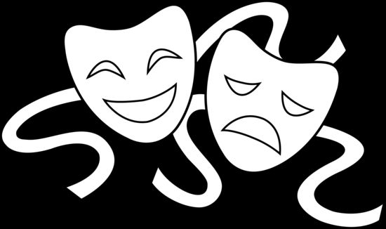 Mask clipart thespian Drama Art Clip Masks Cliparts
