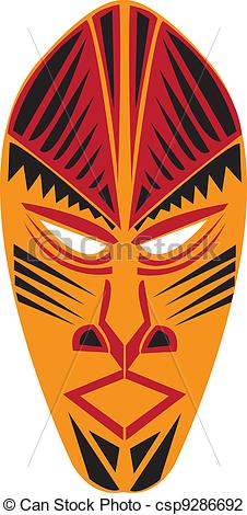 Mask clipart tribe Of tribal Tribal mask Vector