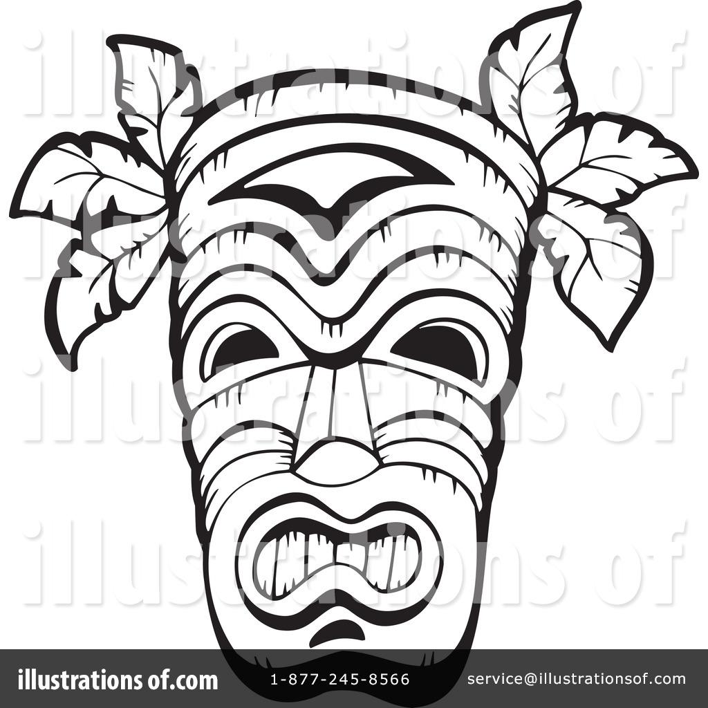 Mask clipart tribe Clipart visekart by Illustration visekart