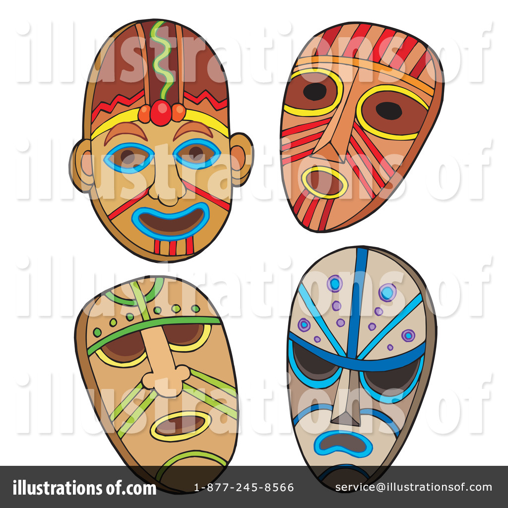Mask clipart tribe Illustration Clipart Royalty Free Masks