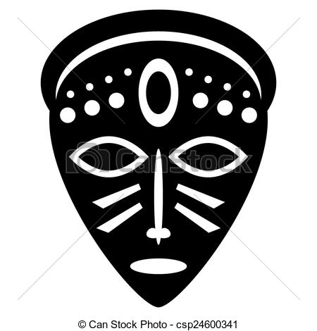 Mask clipart tribe Csp24600341 African icons Vector for