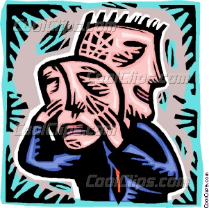 Mask clipart two face Vector sad man sad with