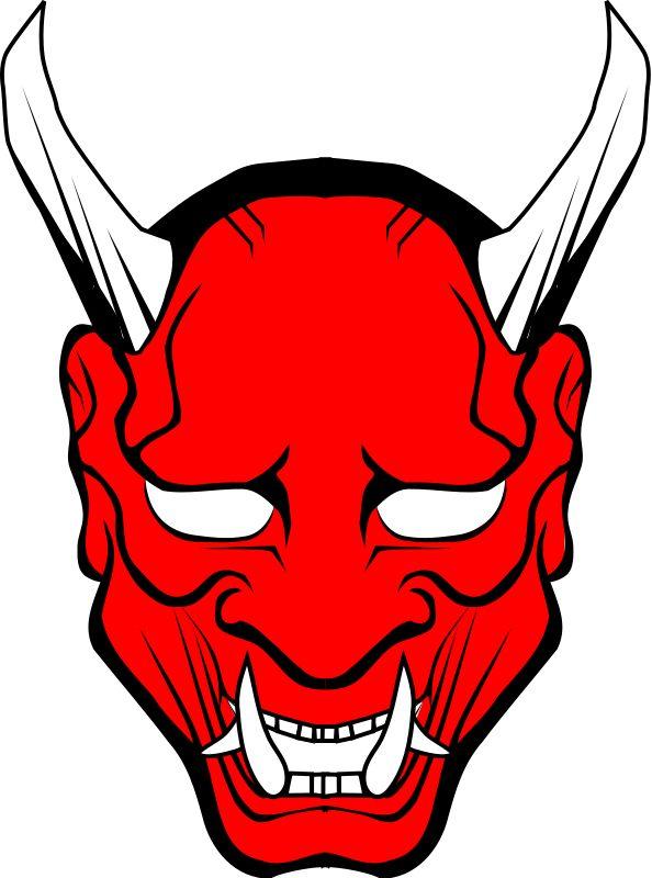 Mask clipart vector Mask Masks mask Oni vector