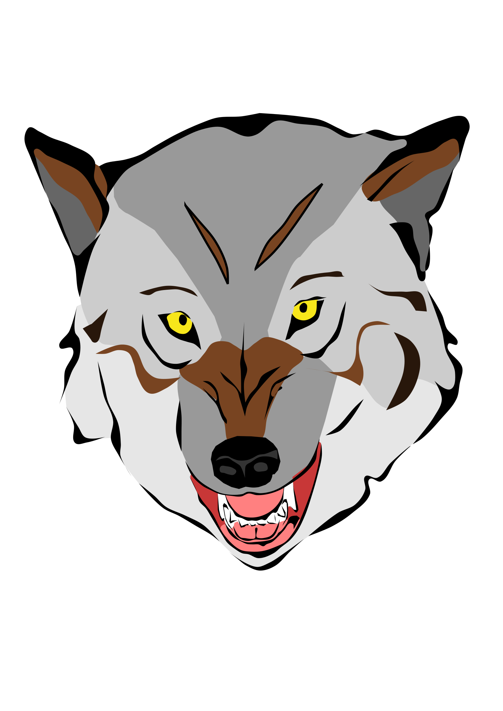Wolf clipart wolf mask Wolf Clipart wolf