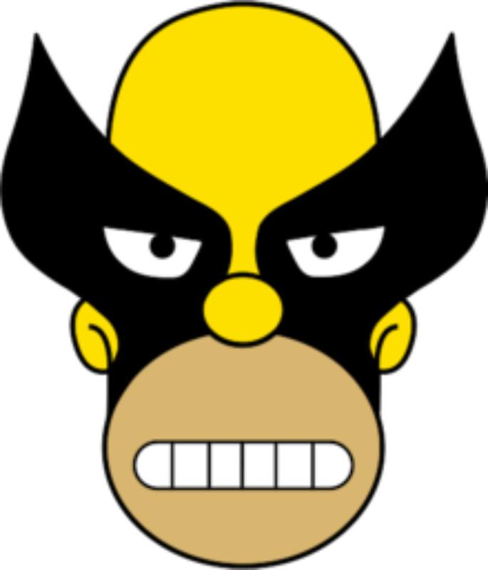Wolverine clipart mask Wolverine Alextruck Homer Simpson by