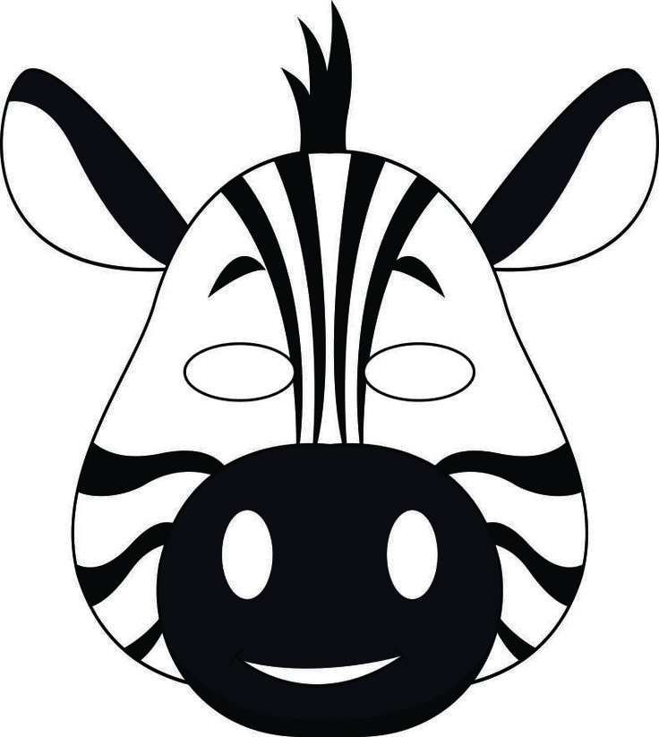 Mask clipart zebra Or themed play for are