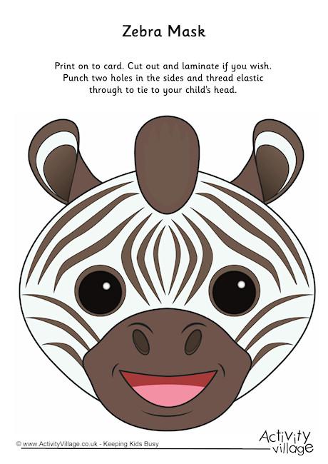 Mask clipart zebra Masks Printables · Activity zebra_mask_460_2