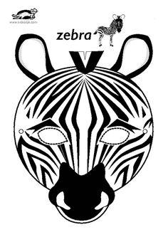 Mask clipart zebra Masks home Jungle Zebra for