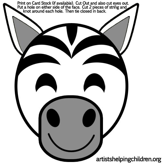Mask clipart zebra Party  Birthday Jungle Safari