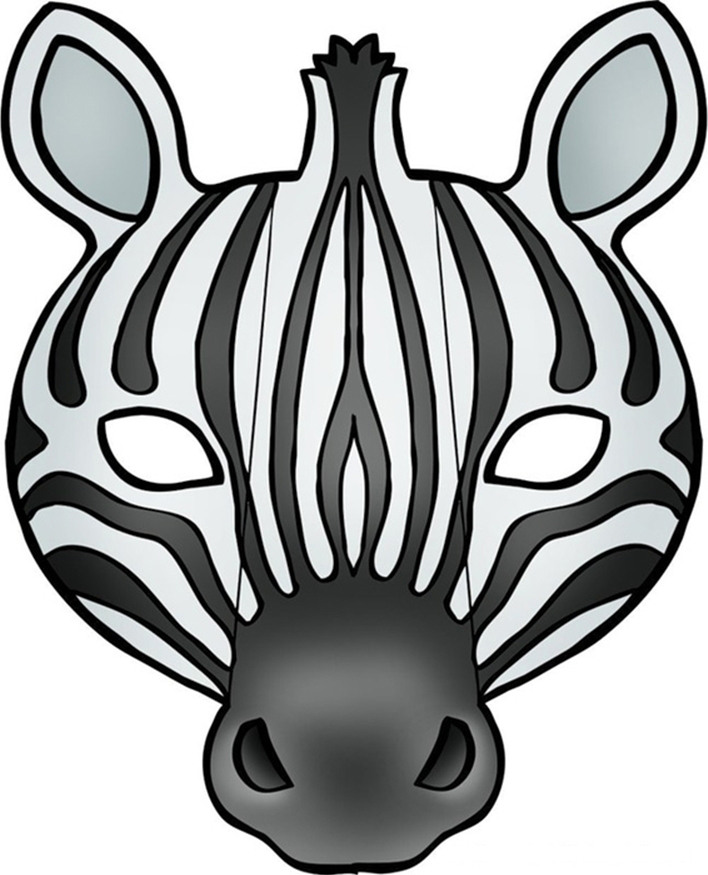 Mask clipart zebra With Zebra mask parts with