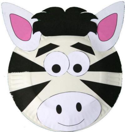 Mask clipart zebra Zebra Craft Paper  Plate