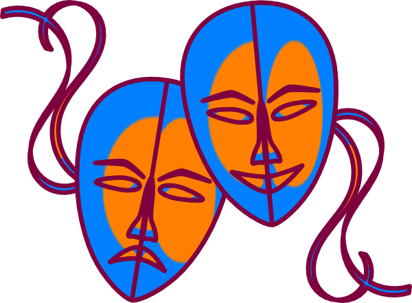 Theatre clipart face  Masks Clipart Cartoon