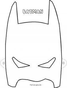 Batgirl clipart mask Printable coloring Printable Batgirl Favors