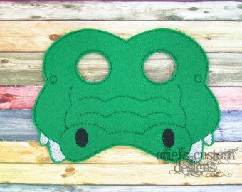 Crocodile clipart mask Crocodile Mask Up Animal Mask