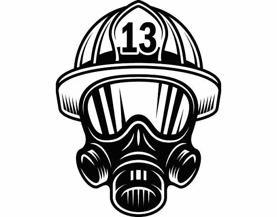 Firefighter clipart mask SVG Respirator Firefighting #1 Vector