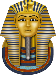 King vector Golden Tut Art