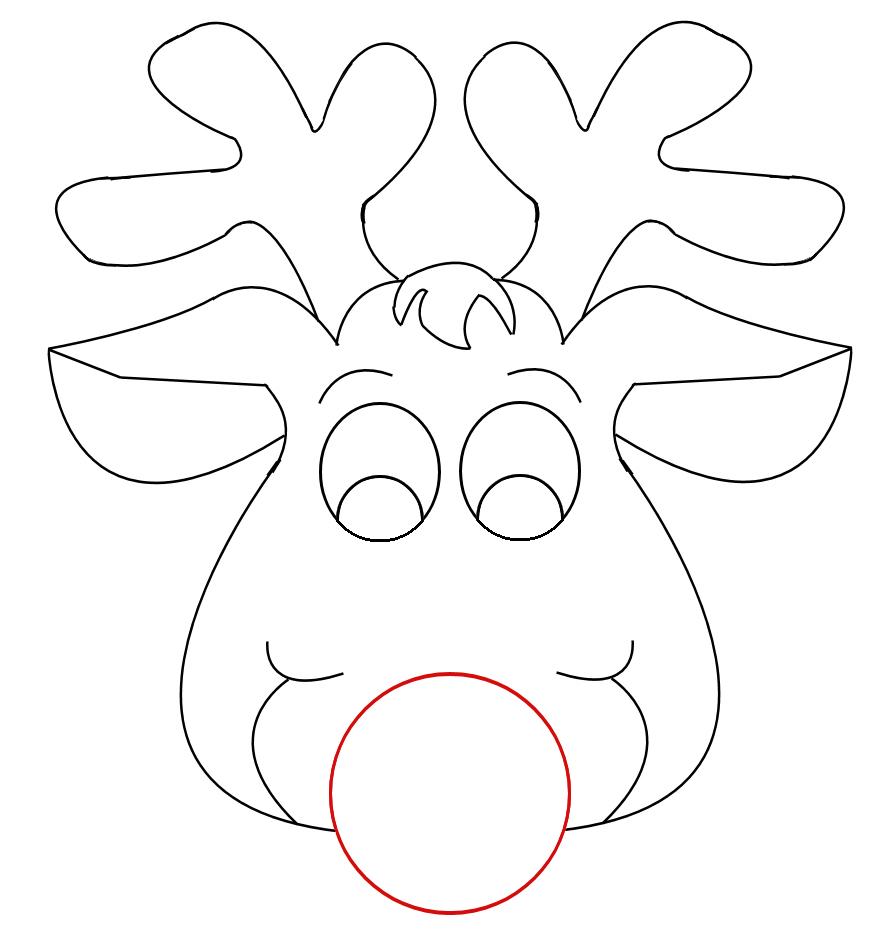 Drawn reindeer printable Responses Reindeer Craft Face