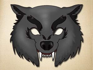 Wolf clipart wolf mask Boys The masks room Animal
